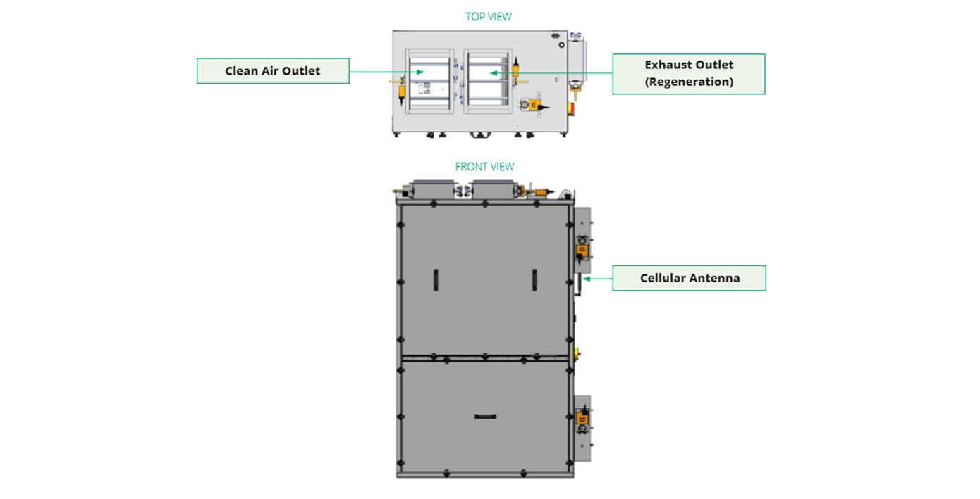HLR 14M INDOOR MODULE DRAWINGS TOP VIEW
