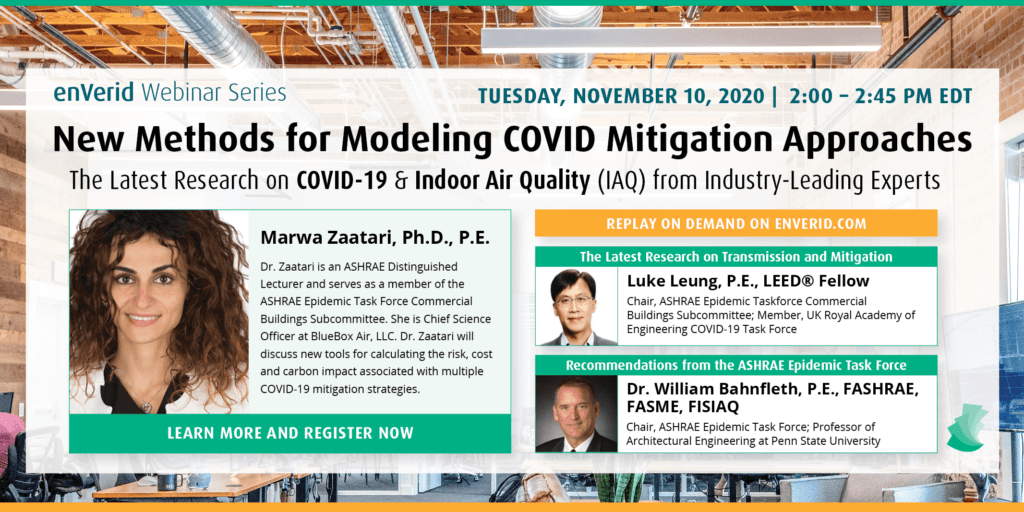 enVerid COVID & IAQ New Best Practices webinar series