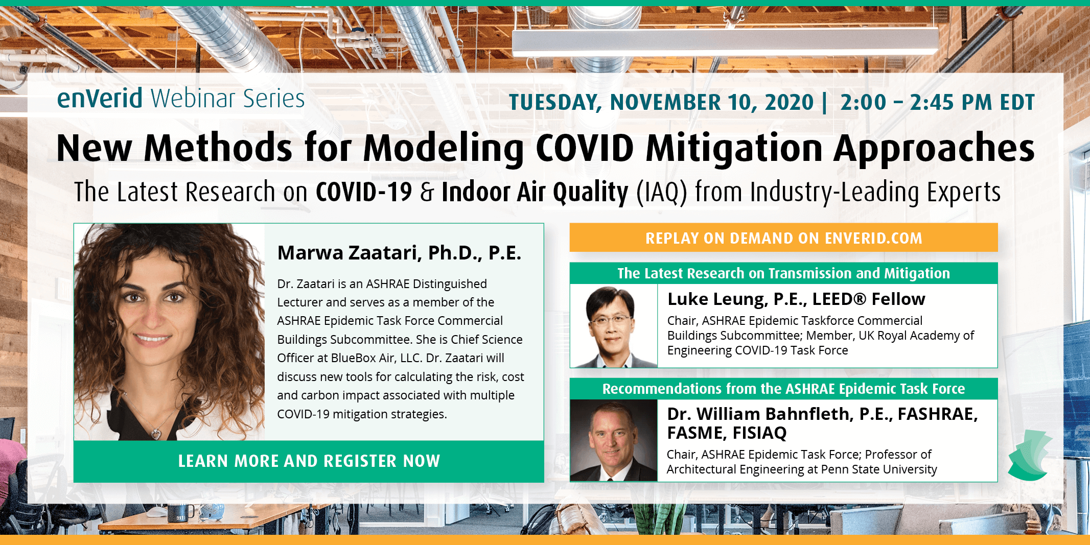 Watch the enVerid COVID-19 & IAQ Webinar Series