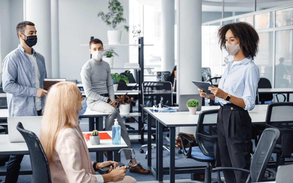 Air purification in offices