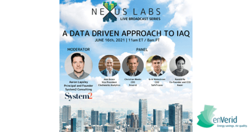 A Data Driven Approach to IAQ featuring Christian Weeks of enVerid Systems