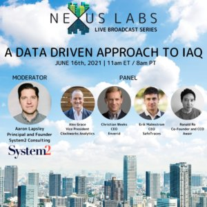 A data driven approach to IAQ with enVerid CEO Christian Weeks