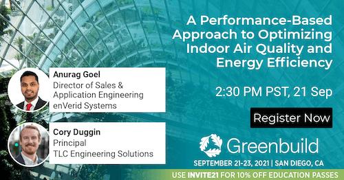 Anurag Goel of enVerid Systems speaking at Greenbuild 2021